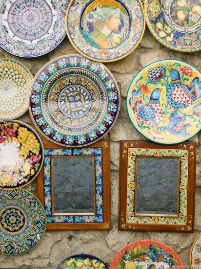 Ceramic Souvenirs, Ravello, Campania, Italy-Walter Bibikow-Photographic Print