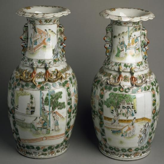 Ceramic Vases with Expanded and Lobed Mouth, China--Giclee Print
