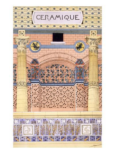 Ceramics: Designs for Tiled Wall Schemes, from 'Decorative Sketches', C.1895 (Colour Litho)-Rene Binet-Giclee Print