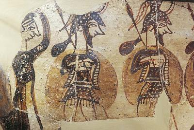 Ceramics, Krater known as 'Warrior Vase', Detail, Armed Soldiers--Giclee Print