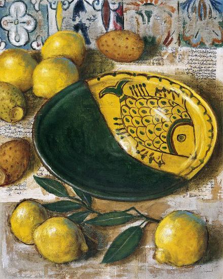 Ceramique aux Citrons-Pascal Lionnet-Art Print