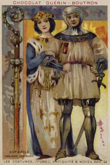 Ceremonial Costume of the Nobility, 14th Century--Giclee Print
