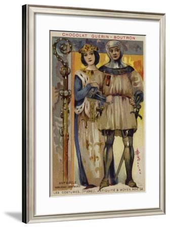 Ceremonial Costume of the Nobility, 14th Century--Framed Giclee Print