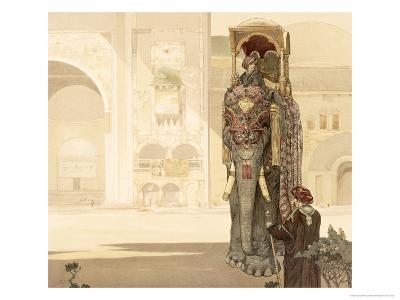Ceremonial Elephant, from The Jungle Book by Rudyard Kipling, 1903-Charles Maurice Detmold-Giclee Print