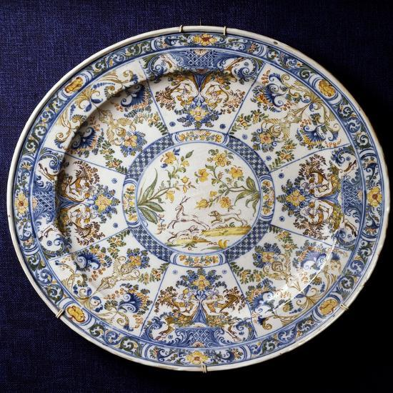 Ceremonial Plate with Sections Decorated in Berain-Style, 1736--Giclee Print