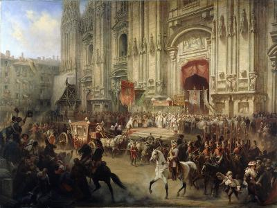 Ceremonial Reception of Field Marshal Alexander Suvorov in Milan in April 1799, 1850S-Adolf Jossifovich Charlemagne-Giclee Print