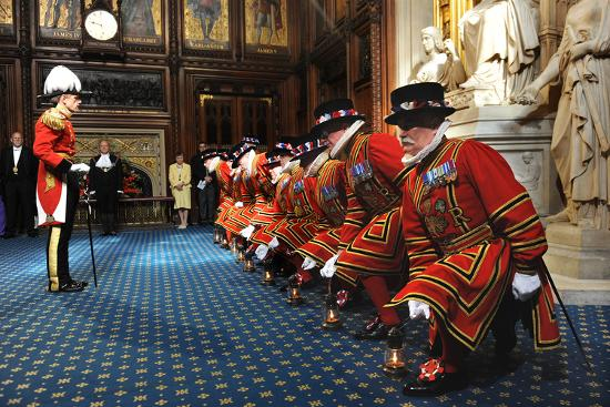 Ceremonial search of Parliament by Yeomen of the Guard-Associated Newspapers-Photo