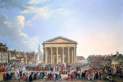 Ceremony at the New Church of St Genevieve, 1765-Pierre Antoine De Machy-Giclee Print