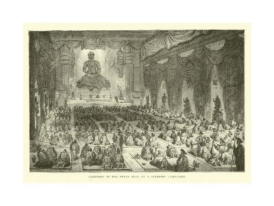 Ceremony in the Great Hall of a Buddhist Lamassery--Giclee Print