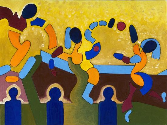 Ceremony of a Sacred Game of Balls, 2007-Jan Groneberg-Giclee Print