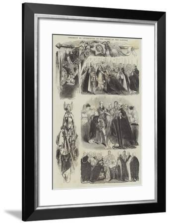 Ceremony of Investiture of the Order of the Garter--Framed Giclee Print
