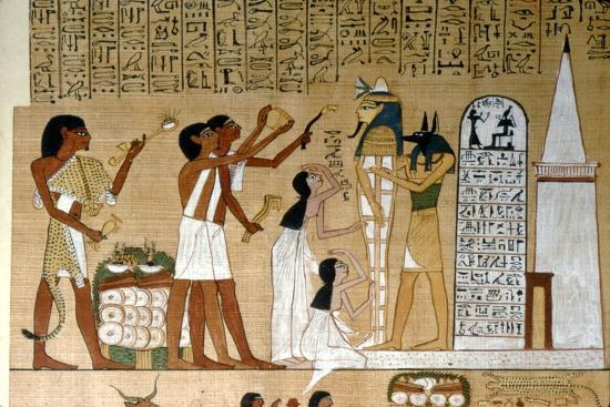 Ceremony of Opening the Mouth of the Mummy before the Tomb, c1300BC-Unknown-Giclee Print