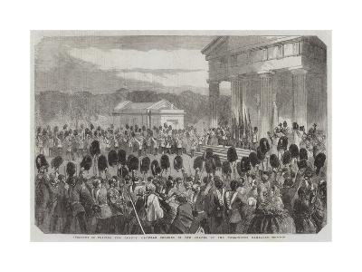 Ceremony of Placing the Guards' Crimean Colours in the Chapel of the Wellington Barracks--Giclee Print