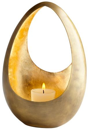 Ceres Brass Candleholder