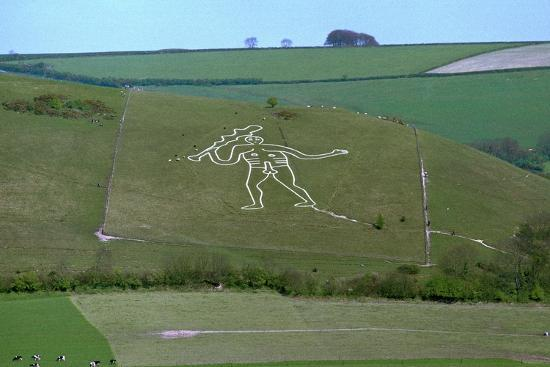 Cerne Abbas Giant, 18th century-Unknown-Photographic Print