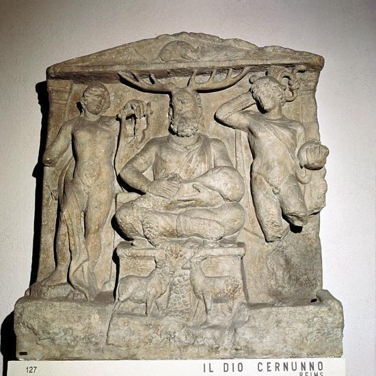 Cernunnos, Celtic horned god, Gallo-Roman relief, Reims, France. Artist: Unknown-Unknown-Giclee Print