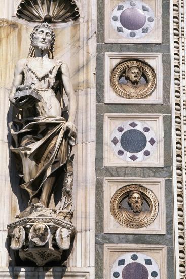 Certosa Di Pavia, Facade, Saint John the Baptist, Sculpture, Pavia, Lombardy, Italy--Giclee Print