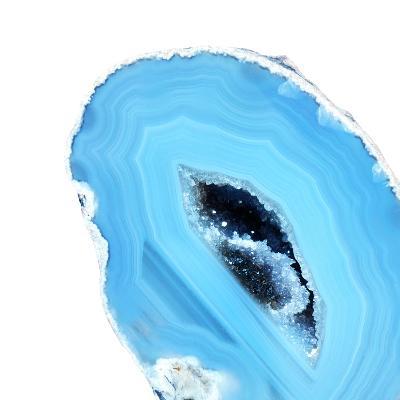 Cerulean Blue Agate A--Premium Photographic Print