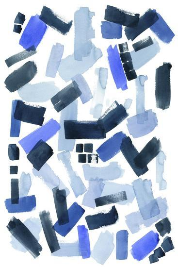 Cerulean Strokes I-Grace Popp-Art Print