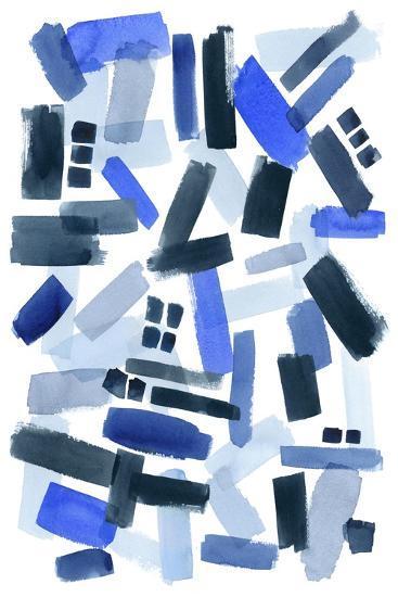 Cerulean Strokes II-Grace Popp-Art Print