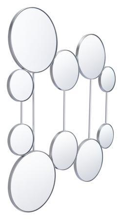 Cery Round Mirrors Silver