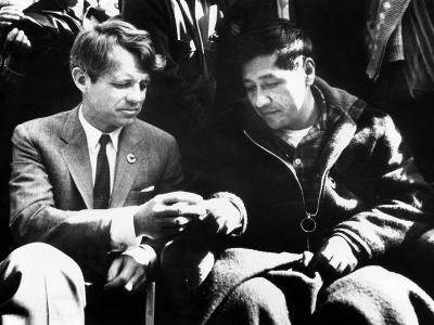 Cesar Chavez Ends His Hunger Strike with Sen Robert Kennedy--Photo