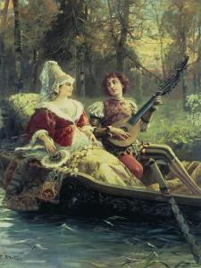 Romantic Serenade by Cesare A. Detti
