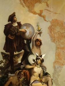 Christopher Columbus, 1451-1506 Italian Explorer, and the Discovery of America by Cesare Dell'acqua