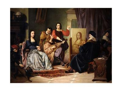 Leonardo Da Vinci Painting the Mona Lisa