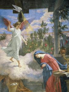 Annunciation, 1875, Fresco by Cesare Mariani