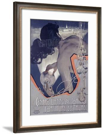 Cesare Urtis, Electric-Adolfo Hohenstein-Framed Giclee Print