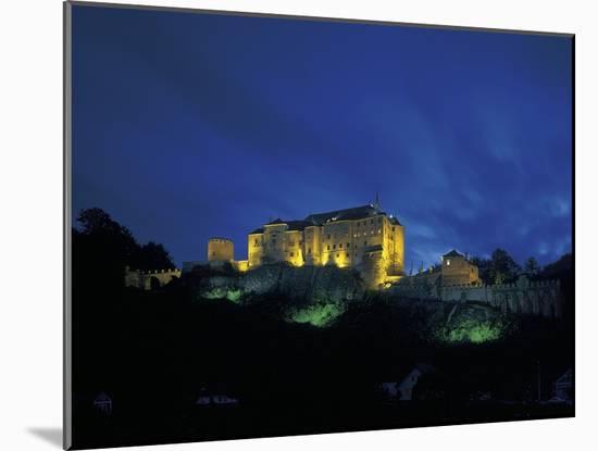Cesky Sternberk Castle at Night, Czech Republic--Mounted Photographic Print