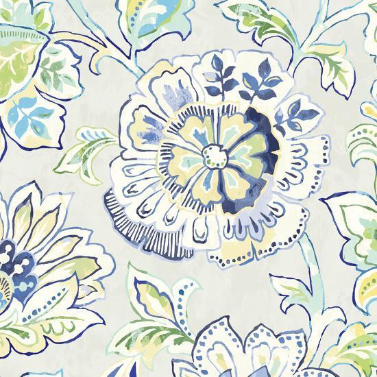 Ceylon Gardens IV Indigo-Wild Apple Portfolio-Art Print