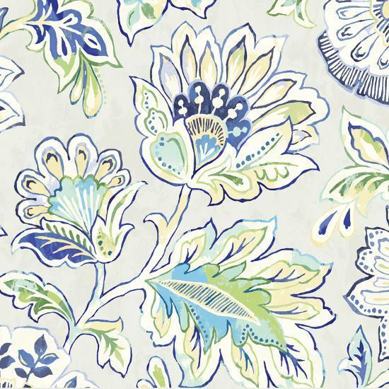Ceylon Gardens V Indigo-Wild Apple Portfolio-Art Print