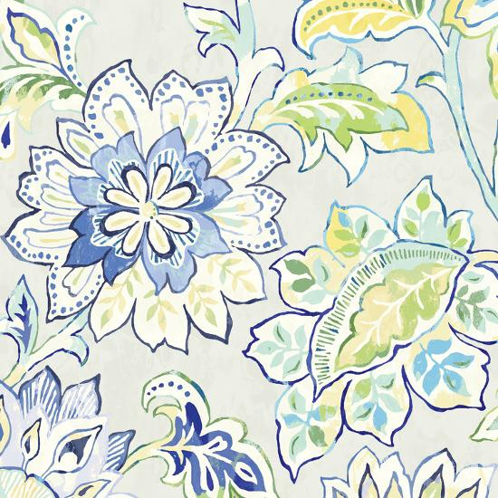 Ceylon Gardens VI Indigo-Wild Apple Portfolio-Art Print