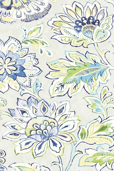 Ceylon Gardens VIII Indigo-Wild Apple Portfolio-Art Print