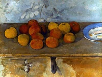 Cezanne: Apples & Biscuits-Paul C?zanne-Premium Giclee Print