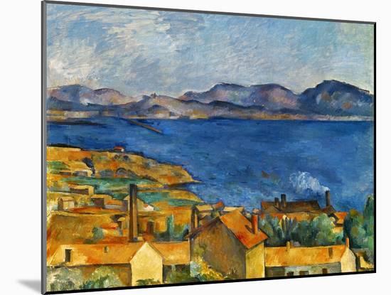 Cezanne:Marseilles,1886-90-Paul Cézanne-Mounted Giclee Print