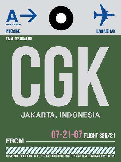CGK Jakarta Luggage Tag II-NaxArt-Art Print
