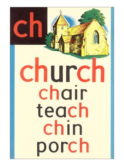 CH for Church--Art Print