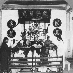 Interior of a Schoolroom at Peking University, China, 1902 by CH Graves