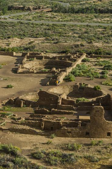 Chaco Ruins in the Chaco Culture Nat'l Historic Park, UNESCO World Heritage Site, New Mexico, USA-Michael Runkel-Photographic Print