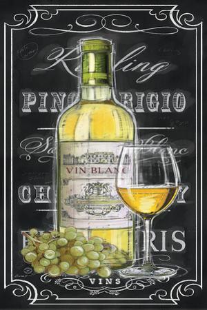 Chalkboard Sign Vin Blanc