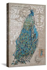 Peacock on Linen 1 by Chad Barrett