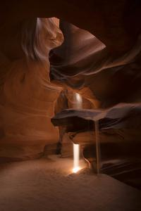 A Shaft of Warm Light Captured in the Antelope Canyon, Arizona by Chad Copeland