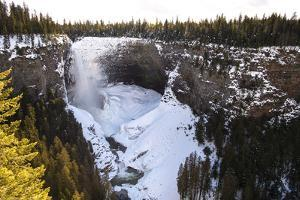 Helmcken Falls Waterfall in Well's Gray Provincial Park in Winter by Chad Copeland