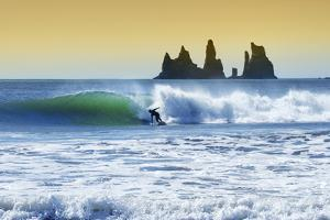 Long Boarder Finds a Wave Near Vik, Iceland by Chad Copeland