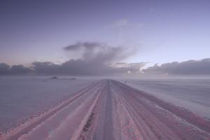 Snow Covers the Main Highway in Iceland by Chad Copeland