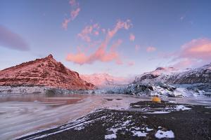 Tent at Skaftafell Glacier in Iceland by Chad Copeland