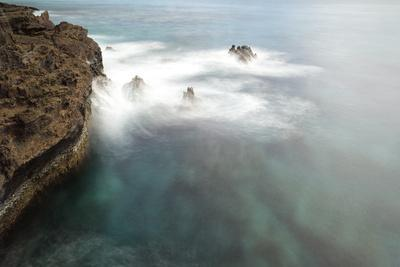 Waves Splash on Rocks on the Coast of Oahu